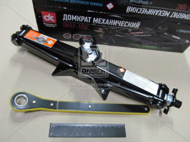 Домкрат механический 1,5т. 104/385мм. трещетка  - АВТОТОРГ в Мелитополе