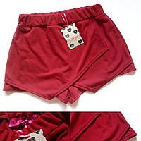Женские шортики от boohoo красного цвета