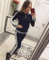Женский модный вязаный костюм со шнуровкой: свитер и штаны (4 цвета)