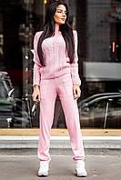 Женский модный вязаный костюм: свитер с узором и брюки (6 цветов)
