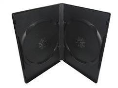 Бокс для 2 DVD дисків 14mm Black глянцева плівка