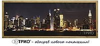 Настенный обогреватель, панорамные картины серии VIP в дубовой рамке New York и Египет, 150 х 60 см. 600Вт