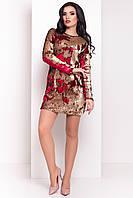 Платье-хамелеон из двухцветных пайеток