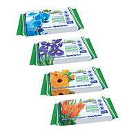 Салфетки влажные Florica цветы 15шт/уп
