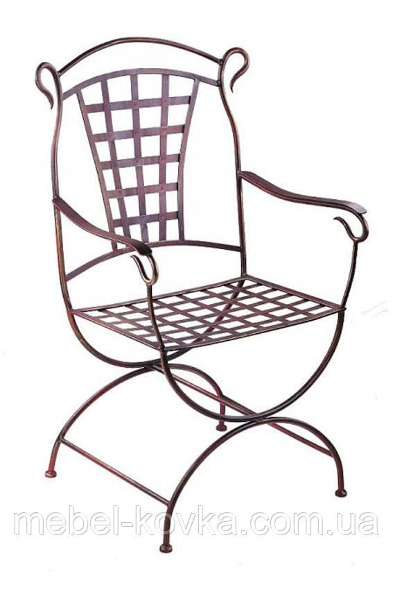 Металлический стул с подлокотниками 34