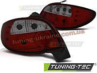 Задние фонари на Peugeot 206 1998-2012 красно-тонированные