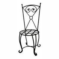 Металлический стул для веранды 35