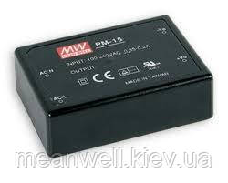 PM-15-12  Блок питания Mean Well  15 Вт, 12VDC, 1.25A, герметичный, монтаж на плату