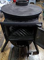 Печь-буржуйка дерево-уголь  чугун верх