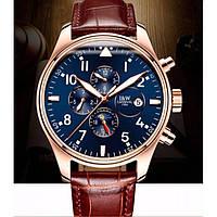 Мужские механические часы Carnival Grand Brown с сапфировым стеклом