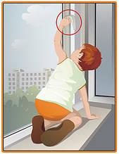 Детская безопасность на окна(ограничители открывания)