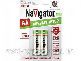 Аккумулятор Navigator 94462 NHR-1000-HR03-BP2, ААА, Ni-MH, 1000 mAh