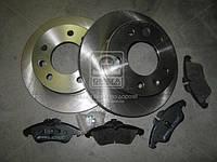 Комплект тормозной передн. MB SPRINTER 901-902-903 12.94-, VITO 2.0, 2.3, 2.3TD, 2 (пр-во REMSA)