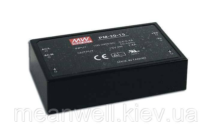 PM-20-5  Блок питания Mean Well  22 Вт, 5VDC, 4.4A, герметичный, монтаж на плату