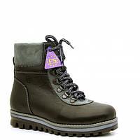 Зимние ботинки кожаные для подростков р.41 - 26,5см