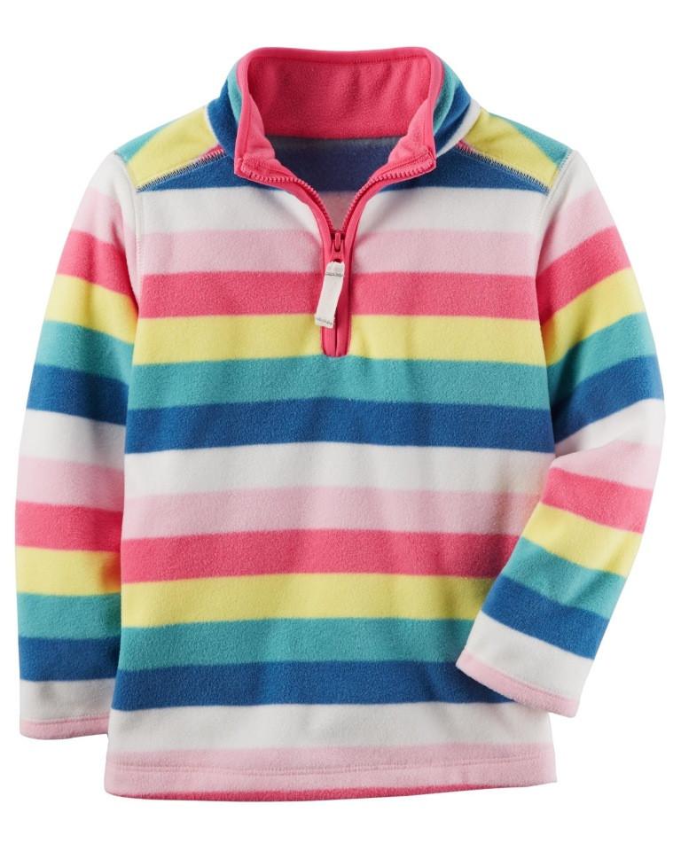 Carters Кофта флисовая разноцветная в полоску