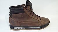Ботинки Мужские Зимние Кожаные на меху Ikos
