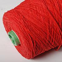 Пряжа-ленточка, красный (бобина 590 г)