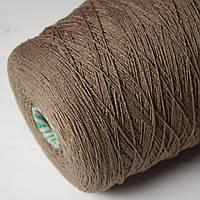Пряжа Cazum, древесный (87% хлопок, 10% акрил, 3% ПА; 500 м/100 г)