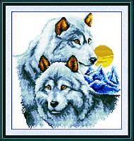 Вышивка крестом Волки