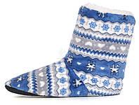 Тапочки женские домашние угги с оленями home Uggs синие с серым, Синий, 40/41