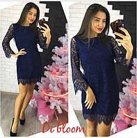 Женское стильное кружевное платье (4 цвета)