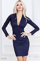Откровенное платье люрекс. Цвет темно-синий.
