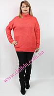 Кралловый свитер из шерстяной фланели