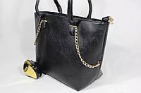 Женская стильная сумка декорированная золотыми украшениями дропшиппинг украина