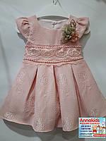Нарядное платье на девочку, Blueberrys, светло - розовое, рост 80-104 cм.