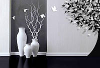 """3D фотообои """"Напольные белые вазы"""""""