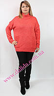 Стильный теплый свитер батал