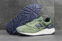 Кроссовки мужские New Balance 999. Замша 100% Темно зеленые