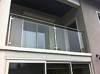 Балконные ограждения со стеклом комбинированные.
