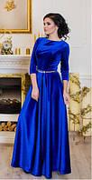Вечернее женское платье в пол ЛАДА электрик Lenida 42-50 размеры
