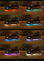 Светодиодная подсветка днища 16цветов. полосы:135см х 2 и 115см х 2.