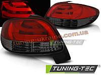 Задние фонари на PEUGEOT 206 1998-2012 красно-тонированные HATCHBACK