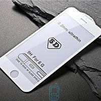 Защитное стекло iPhone 6 5D white тех.пакет