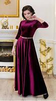 Вечернее женское бордовое платье в пол ЛАДА  Lenida 42-50 размеры