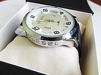 Часы DIESEL серебро+белый циферблат