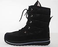 Ботинки женские снежинка черные (Распродажа остатков)