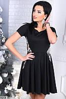 Платье  со вставками пайетки