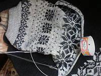 Процесс вязания свитера из слонимской пряжи жаккардом