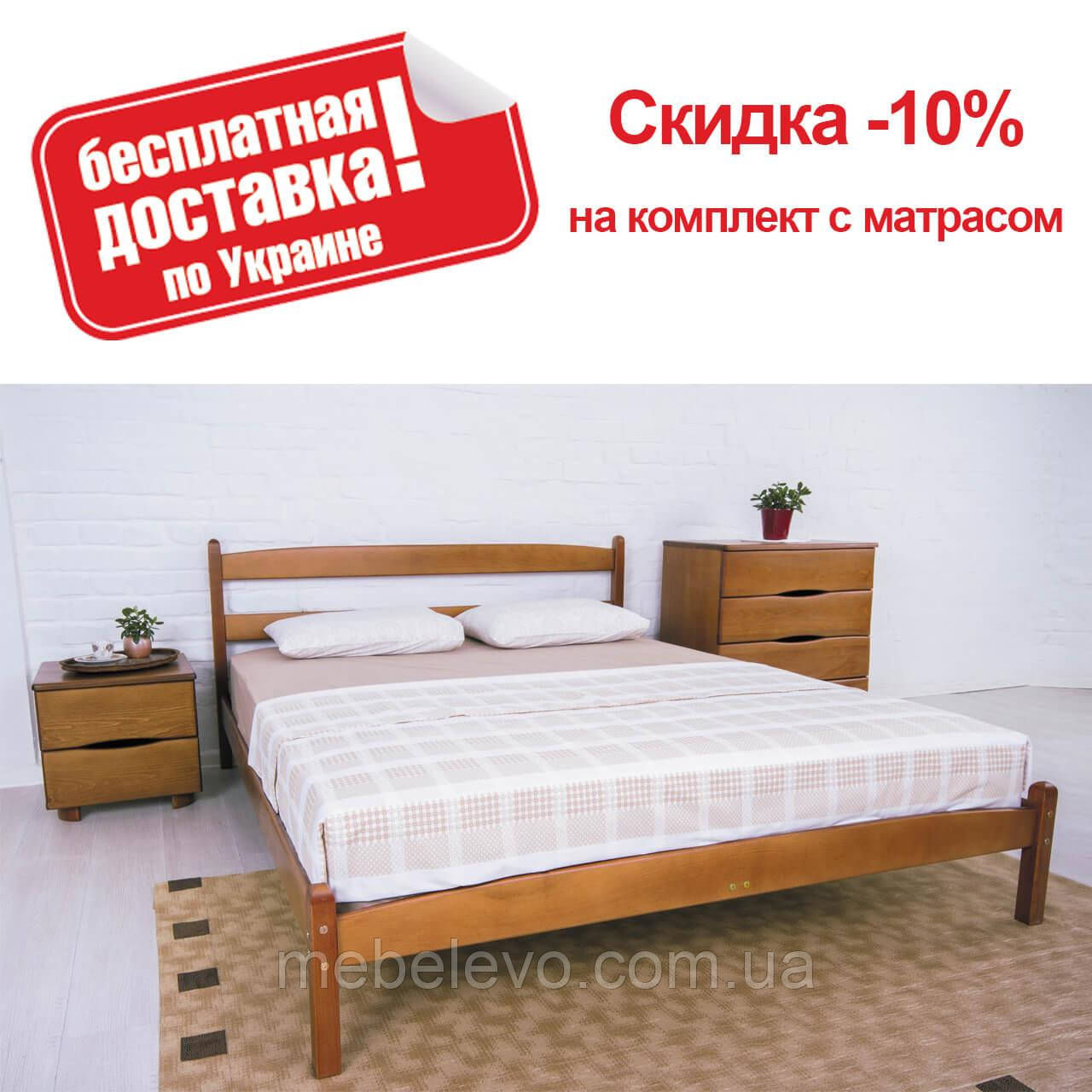 Кровать полуторная Лика без изножья 140 Олимп
