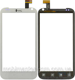 Тачскрин (сенсорный экран) для телефона THL W3+ белый