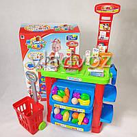 Детская витрина игрушечный магазин прилавок набор супермаркет для детей с тележкой MySupermarket