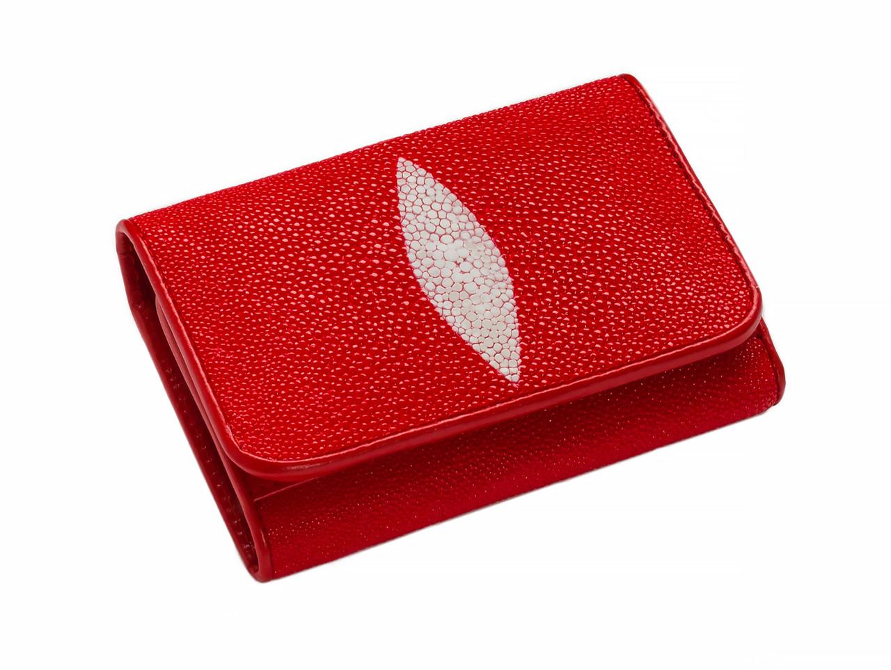 Гаманець зі шкіри ската Ekzotic Leather Червоний (stw 18_2)