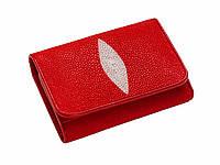 Гаманець зі шкіри ската Ekzotic Leather Червоний (stw 18_2), фото 1