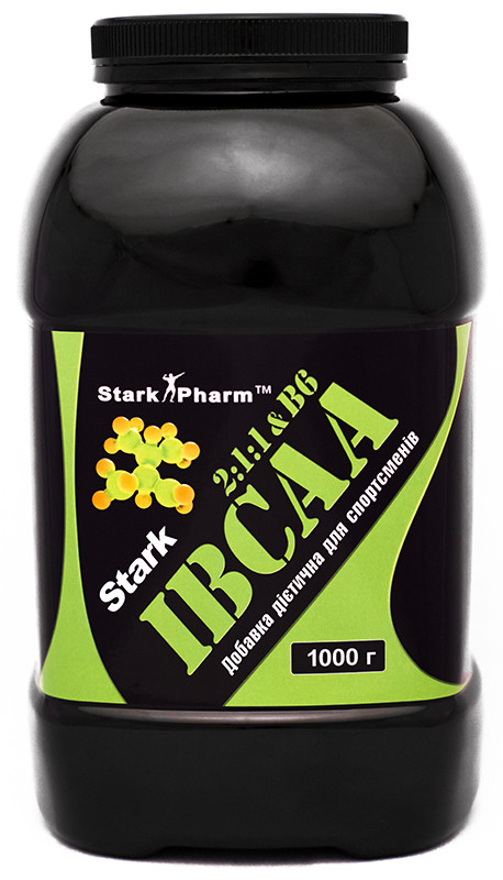 Аминокислоты Stark Pharm - IBCAA 2-1-1 & Vit B6 Pure (1000 грамм) (200 порций)