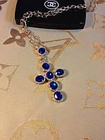 Подвеска Blue Sapphire Cross Fashion Jewelry